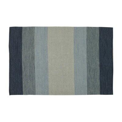 Jaya Sky Hand-Woven Area Rug Rug Size: 79 x 106