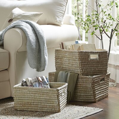 Rivergrass Rectangular Storage Baskets with Handles