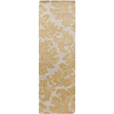 Diana Canary Rug Rug Size: Runner 26 x 8