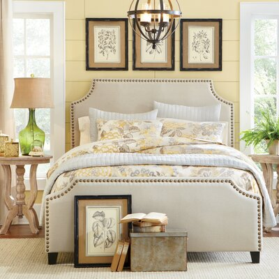 Parker Upholstered Panel Bed Size: King