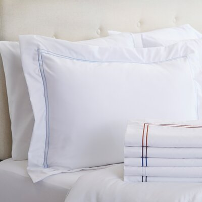 Alexa Sham Color: Terra & White, Size: King