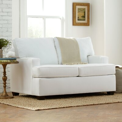 Clarkedale Loveseat Upholstery: Godiva Putty