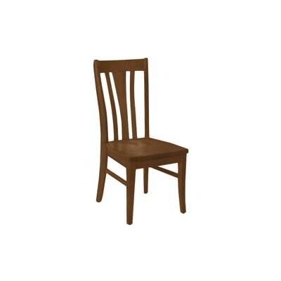 Brent Custom Solid Wood Dining Chair (Set of 2) Finish: Caramel Walnut
