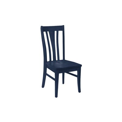 Brent Custom Solid Wood Dining Chair (Set of 2) Finish: Admiral Navy