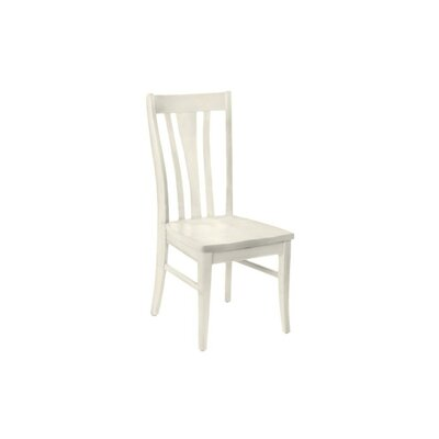 Brent Custom Solid Wood Dining Chair (Set of 2) Finish: Seashell White