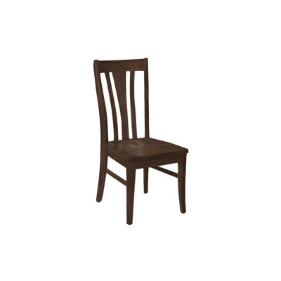 Brent Custom Solid Wood Dining Chair (Set of 2) Finish: Cherry Walnut