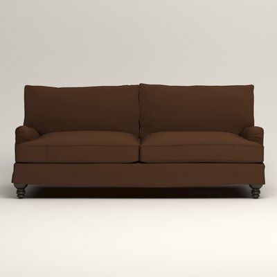 Montgomery Slipcovered Sofa Upholstery: Microsuede Chocolate