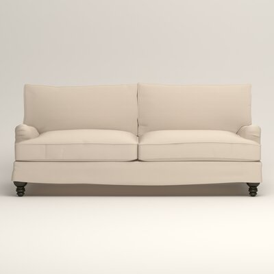 Montgomery Slipcovered Sofa Upholstery: Microsuede Oyster