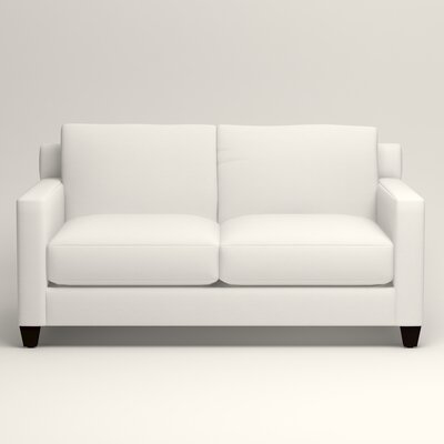 Kerry Loveseat Upholstery: Classic Bleach White