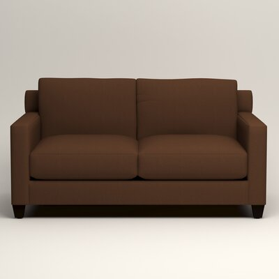 Kerry Loveseat Upholstery: Jackson Coffee Microsuede