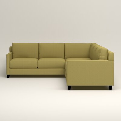 Kerry L-Shaped Sectional Orientation: Right Facing, Upholstery: Bailey Avocado Blended Linen