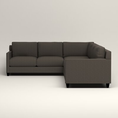 Kerry L-Shaped Sectional Upholstery: Bailey Charcoal Blended Linen, Orientation: Right Facing