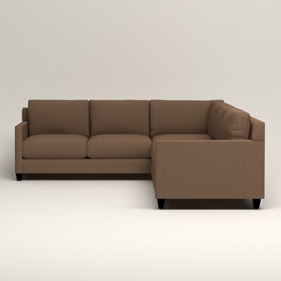 Kerry L-Shaped Sectional Upholstery: Bailey Mushroom Blended Linen, Orientation: Right Facing