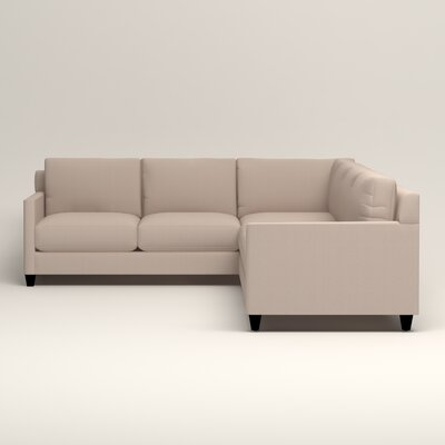 Kerry L-Shaped Sectional Upholstery: Bailey Papyrus Blended Linen, Orientation: Right Facing