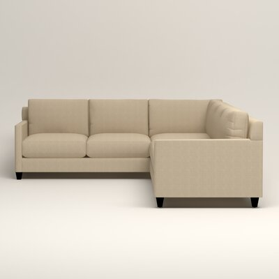 Kerry L-Shaped Sectional Orientation: Right Facing, Upholstery: Bryant Oatmeal Textured Slub