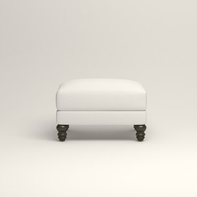Montgomery Upholstered Ottoman Upholstery: Classic Bleach White