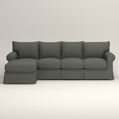 Jameson Sofa with Chaise Upholstery: Bailey Lagoon Blended Linen, Orientation: Right