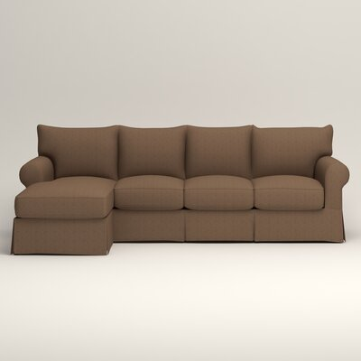 Jameson Sofa with Chaise Upholstery: Bailey Mushroom Blended Linen, Orientation: Left