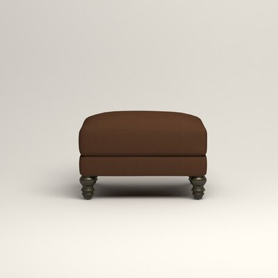 Montgomery Upholstered Ottoman Upholstery: Microsuede Chocolate