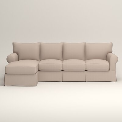 Jameson Sofa with Chaise Upholstery: Bailey Papyrus Blended Linen, Orientation: Left