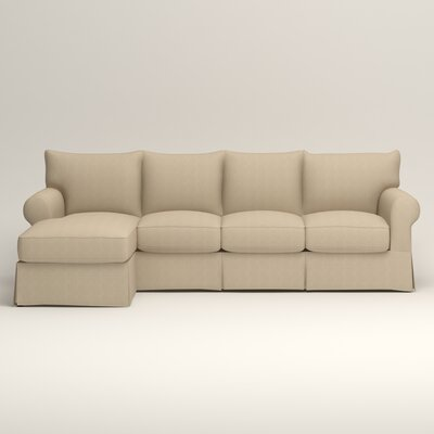 Jameson Sofa with Chaise Orientation: Left, Upholstery: Bryant Oatmeal Textured Slub