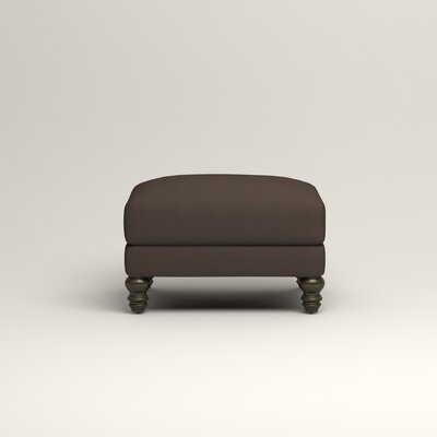 Montgomery Upholstered Ottoman Upholstery: Microsuede Charcoal