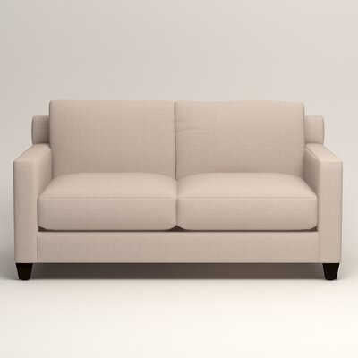 Kerry Loveseat Upholstery: Lizzy Linen
