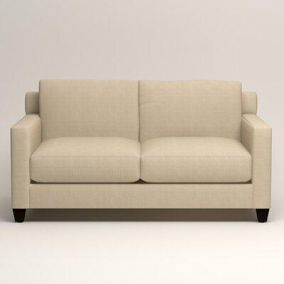 Kerry Loveseat Upholstery: Bryant Oatmeal Textured Slub