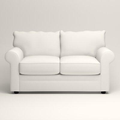 Newton Loveseat Upholstery: Truman Cloud White Twill