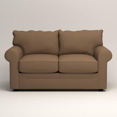 Newton Loveseat Upholstery: Jackson Bark Microsuede