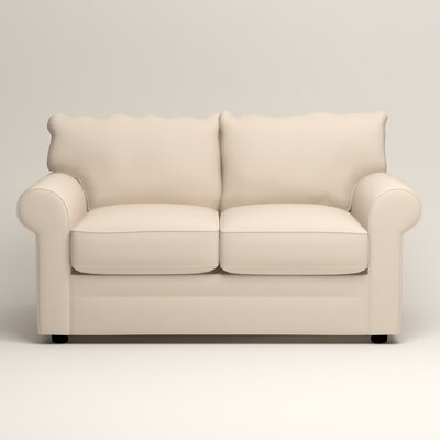 Newton Loveseat Upholstery: Jackson Oyster Microsuede