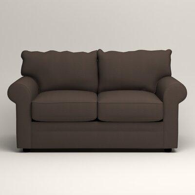 Newton Loveseat Upholstery: Jackson Storm Microsuede
