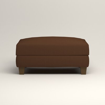 Fairchild Ottoman Upholstery: Microsuede Chocolate