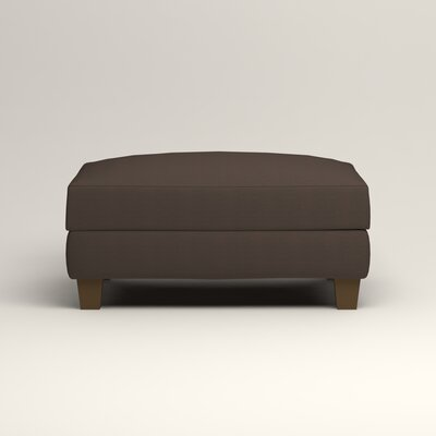 Fairchild Ottoman Upholstery: Microsuede Charcoal