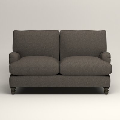 Montgomery Upholstered Loveseat Upholstery: Lizzy Graphite