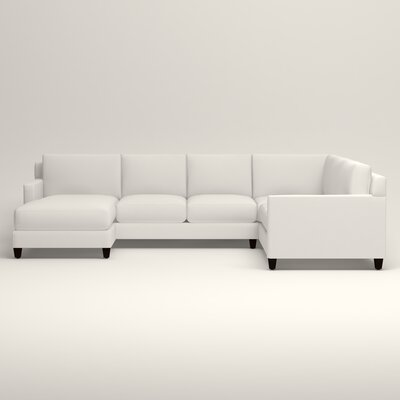 Kerry U-Shaped Sectional Upholstery: Classic Bleach White, Orientation: Right Facing