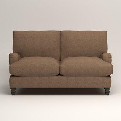 Montgomery Upholstered Loveseat Upholstery: Lizzy Hemp