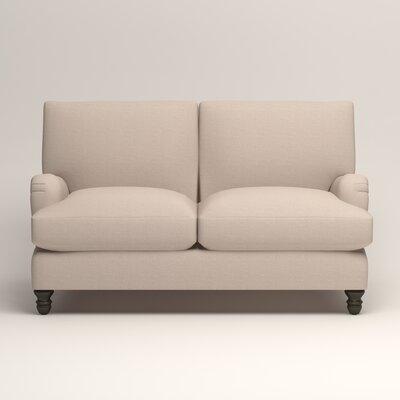Montgomery Upholstered Loveseat Upholstery: Lizzy Linen