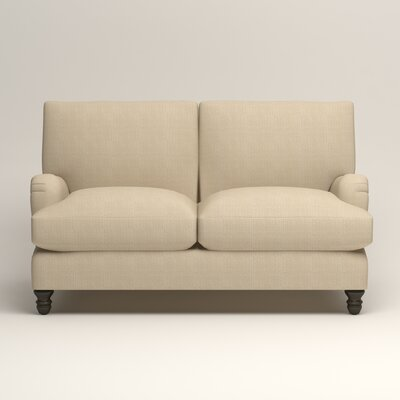 Montgomery Upholstered Loveseat Upholstery: Hilo Flax