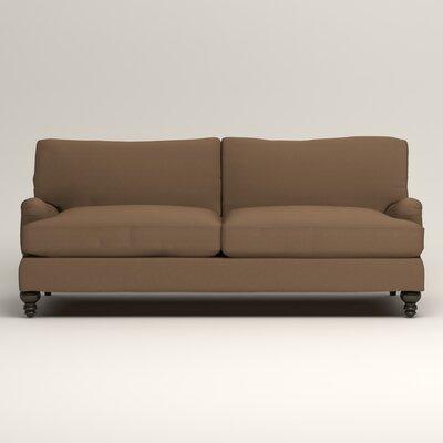 Montgomery Upholstered Sofa Upholstery: Microsuede Cappucino