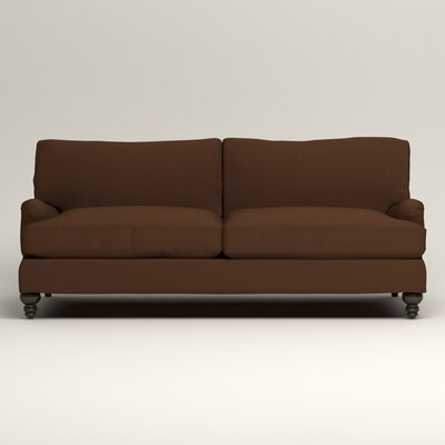 Montgomery Upholstered Sofa Upholstery: Microsuede Chocolate