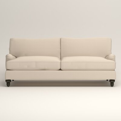 Montgomery Upholstered Sofa Upholstery: Microsuede Oyster