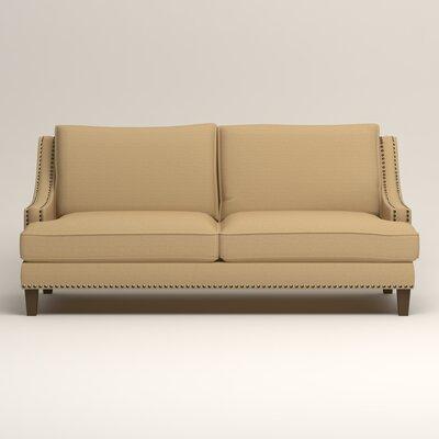 Larson Nailhead Trim Sofa Upholstery: Bailey Barley Blended Linen
