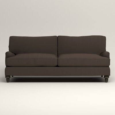 Montgomery Upholstered Sofa Upholstery: Microsuede Charcoal