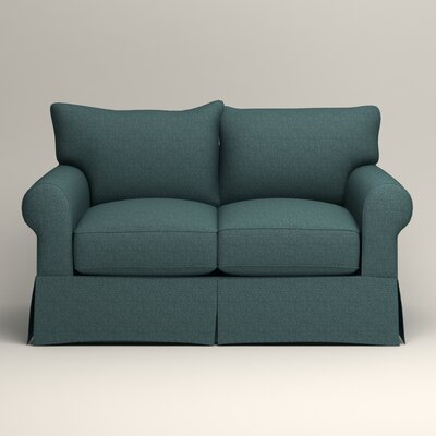 Jameson Loveseat Upholstery: Bailey Aegean Blended Linen