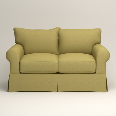 Jameson Loveseat Upholstery: Bailey Avocado Blended Linen