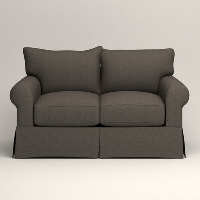 Jameson Loveseat Upholstery: Bailey Charcoal Blended Linen