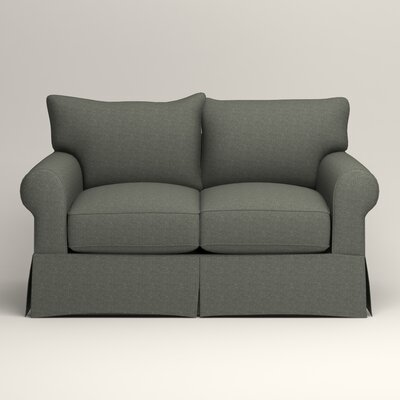 Jameson Loveseat Upholstery: Bailey Lagoon Blended Linen