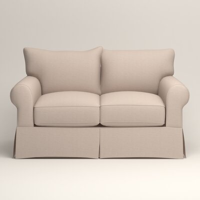Jameson Loveseat Upholstery: Bailey Papyrus Blended Linen