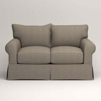 Jameson Loveseat Upholstery: Bryant Slate Textured Slub